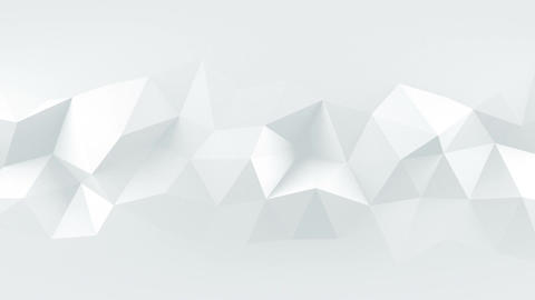 White low poly rumpled 3D surface seamless loop animation Animation