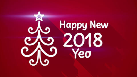Happy new 2018 year greeting loop Live Action
