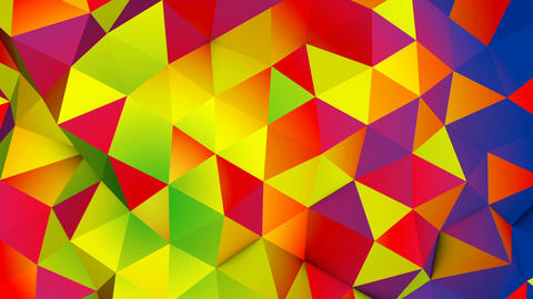 Vivid colorful polygonal surface seamless loop 3D animation Animation