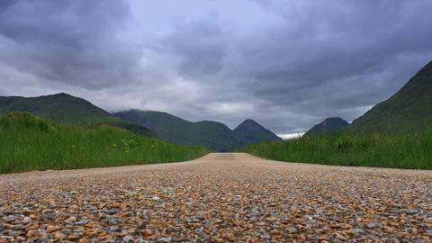 Glen Etive Street View, Scotland Filmmaterial