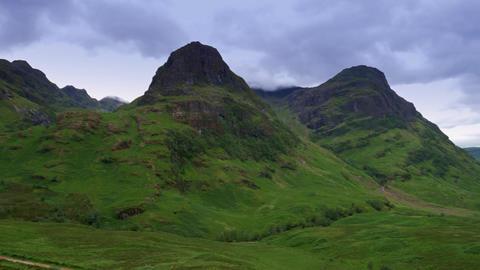 Glen Etive Mountains, Scotland Footage