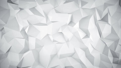White low poly 3D surface seamless loop animation Animation