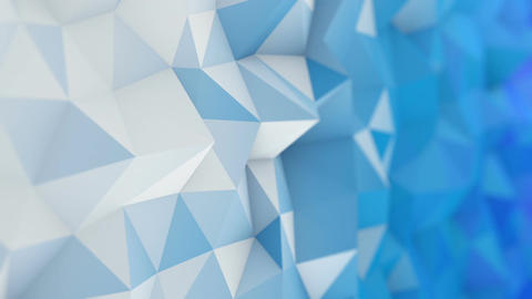 White and blue low poly 3D surface seamless loop animation Animation