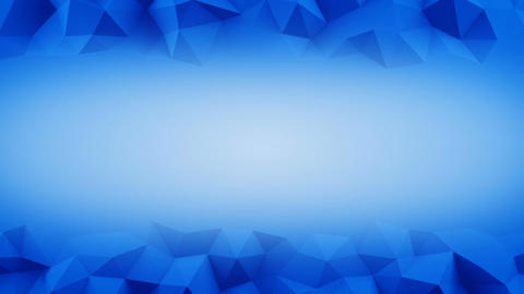 Blue frame of low poly 3D surface seamless loop 3D animation Animation