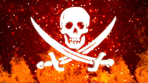 HD Loopable Background with nice rotating pirate symbol Animation
