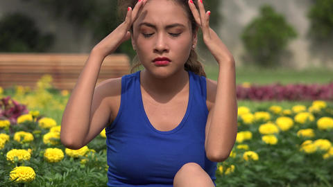 Young Hispanic Woman Stress And Anxiety Footage