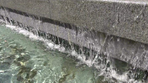 abstract water splash in city fountain Footage