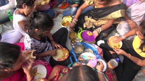 Sunday people near Dakshineswar Kali temple, December 25, 2013, Kolkata Footage