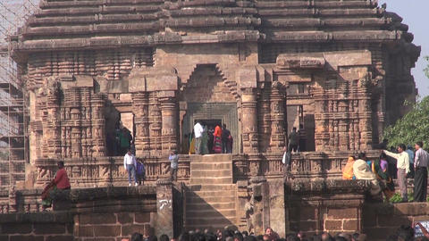 People comes to medieval UNESCO heritage, ruined temple of Sun god, Odisha Live Action