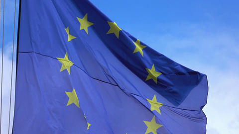 Video of European Union Flag in 4k Footage