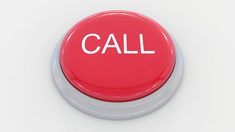 Pushing big red button with call inscription Live Action