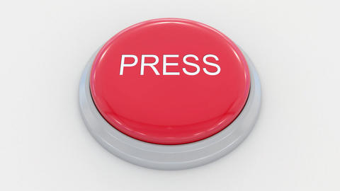 Pushing big red button with press inscription Live Action