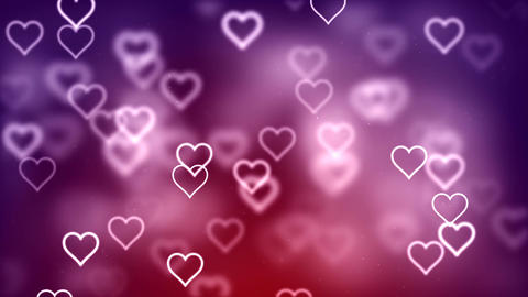 Valentine's day abstract background, flying hearts Animation