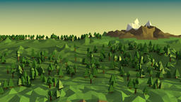 Low poly landscape Animation