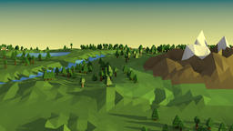Low poly landscape, Stock Animation