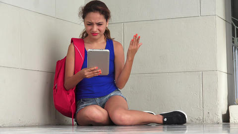 Confused Student With Tablet Live Action
