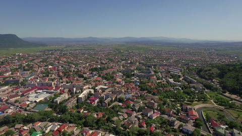 Aerial Wiew of Polish City in Summer ビデオ