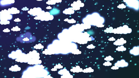 HD Loopable Background with nice multicolor clouds Animation