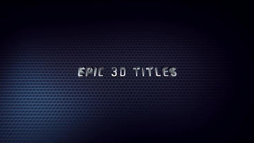 Epic 3D Titles After Effects Template