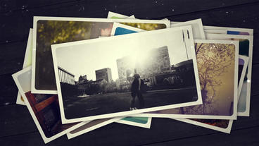 Falling Photos_Photo Gallery After Effects Template