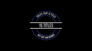 5 Motion Titles Motion Graphics Template