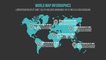 4 Infographics Elements Motion Graphics Template