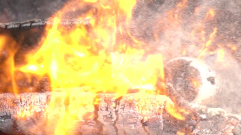 Massive Fire Explosion Slow Motion Archivo