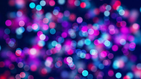 Red blue circle bokeh lights and sparkles loop 動畫