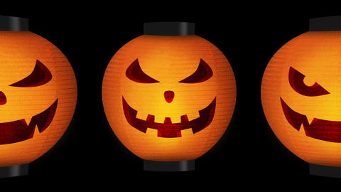 Halloween pumpkin lanterns Animation