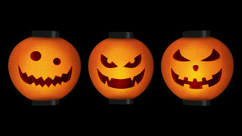 Halloween pumpkin lanterns, Loop Animation