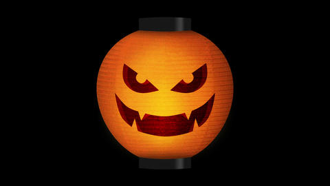 Halloween pumpkin lanterns, Loop CG動画素材