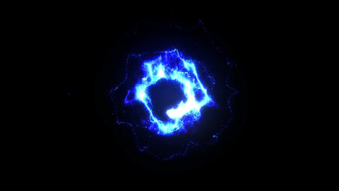 Burning Fire Flames with Sparks, Blue Animation