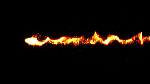 Burning Fire Flames with Sparks, Red Animation