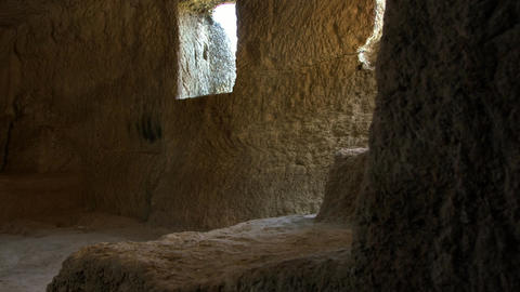 A large underground hall of an ancient cave Filmmaterial