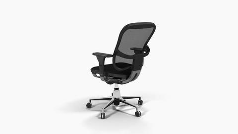 Office chair,loop, animation, Alpha channel, transparent background ,3d Image