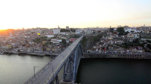 Dom Luis I bridge Stock Video Footage