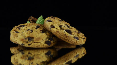 Chocolate cookies Stock Video Footage
