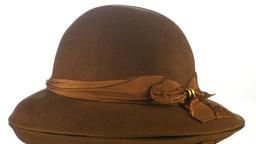Brown vintage hat Stock Video Footage