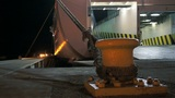 Docked Ferry in the Night Footage