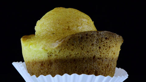 Rotating cupcake Stock Video Footage