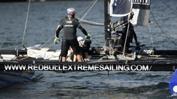 Red Bull Sailing Team compete in the Extreme Sailing Series Footage