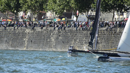 SAP Extreme Sailing Team compete in the Extreme Sailing Series Footage
