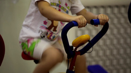 exercise bike Stock Video Footage