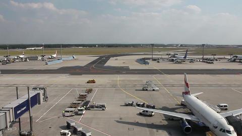 Timelapse of terminal - Frankfurt airport Stock Video Footage