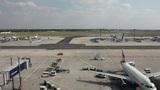 Timelapse of terminal - Frankfurt airport Footage