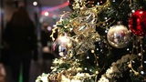 Shopping Mall At Christmas Time stock footage