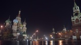 Night Red Square pan Footage