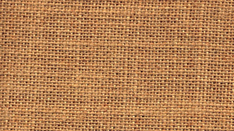 Zoom out closeup on sackcloth material Stock Video Footage