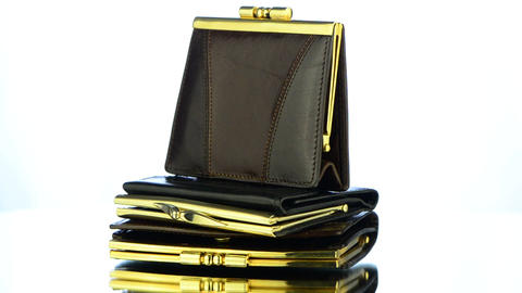 Pile pf Leather Purses Stock Video Footage