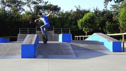 Skateboarder on a grind Stock Video Footage